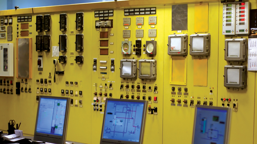 yellow electrical panel